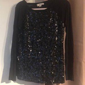 Michael Kors black sequin top
